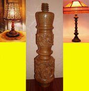 Основа для настольной лампы из тикового дерева