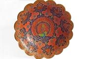 Индийское блюдо ручной работы,  с декоративной росписью «Жар-птица»