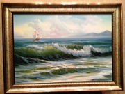 Картина маслом. Морской пейзаж.