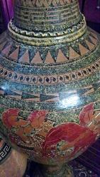 Ваза напольная 145 см.Ручная роспись керамики в Греческом стиле.