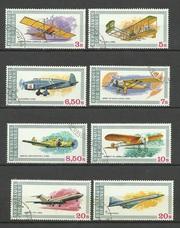 Продам марки Гвинеи 8 шт Авиация