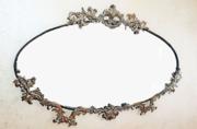 Старинное настенное зеркало в бронзовом оформлении